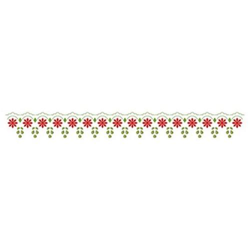 Stencil Litoarte 28,5x4,2 STB-002 Renda Flores