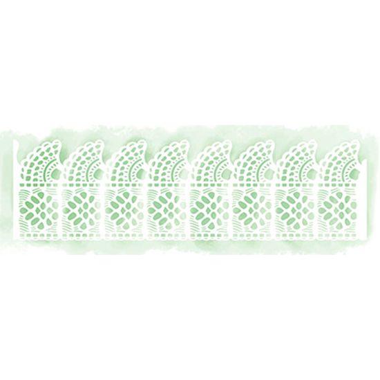 Stencil Litoarte 28,3x8 STAB2-017 Barrado de Renda