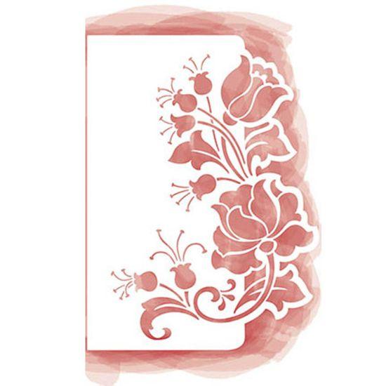 Stencil Litoarte 28x20,6 STA3-015 Rosas