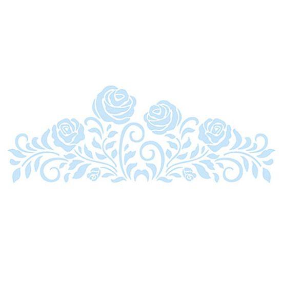 Stencil Litoarte Confeitaria 38x15 SC5-003 Rosas