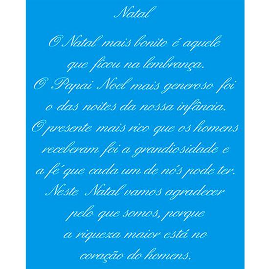 Stencil Litoarte Natal 17,2x21,1 STMN-017 Frase Natalina