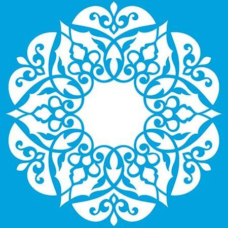 Stencil Litoarte Rose Ferreira 20 X 20 Cm - STXX-100 Mandala de Arabescos