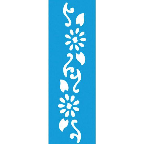 Stencil Litocart 21x5,5 LSB-019 Flores Arabesco
