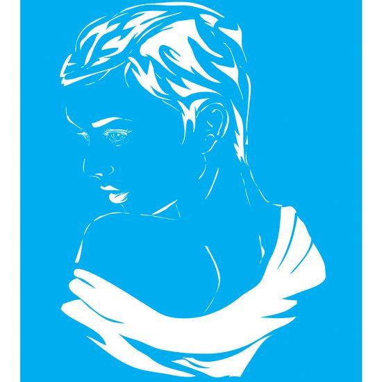 Stencil Litocart 25x20 LSG-011 Mulher
