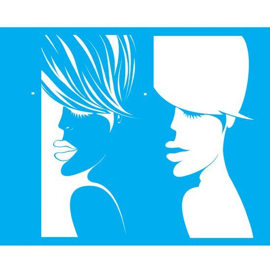 Stencil Litocart 25x20 LSG-082 Mulher