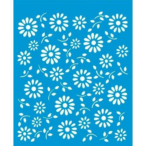 Stencil Médio Flores 17,2x21,1 STM-022 Litoarte