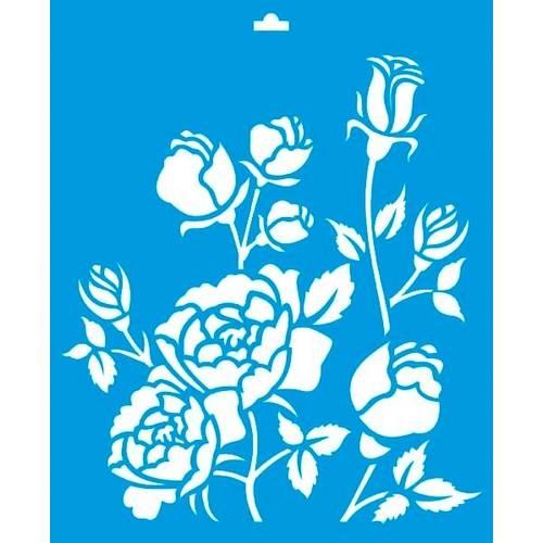 Stencil Médio Flores 17,2x21,1 Stm-014 Litoarte
