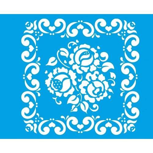 Stencil Médio Flores 17,2x21,1 STM-034 Litoarte