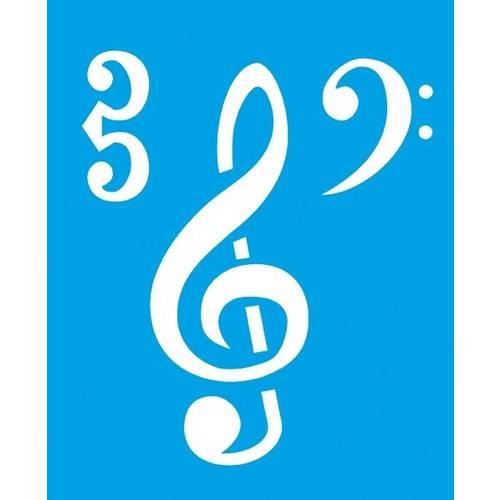 Stencil Médio Notas Musicais 17,2x21,1 Stm-062 Litoarte