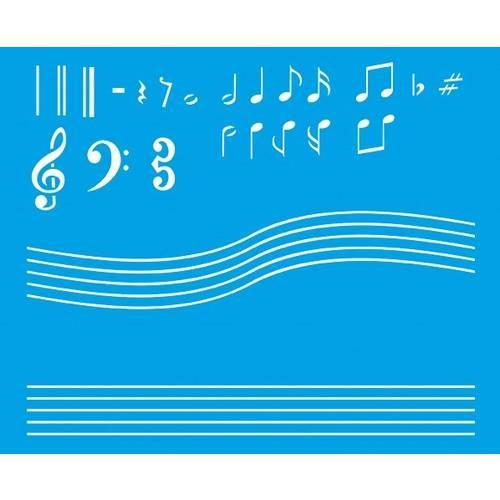 Stencil Médio Notas Musicais 17,2x21,1 STM-066 Litoarte