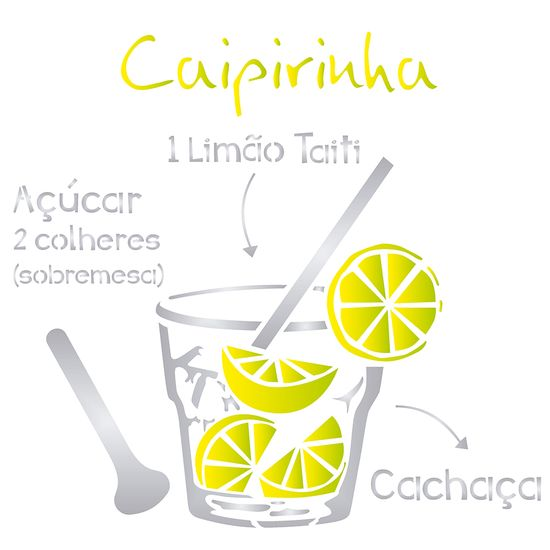 Stencil OPA 30,5x30,5 2195 Drink Caipirinha