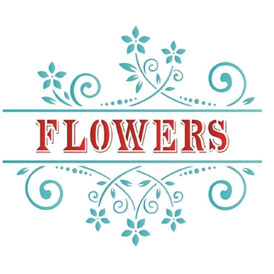 Stencil OPA 20x25 1442 Flowers