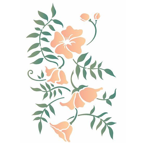 Stencil OPA 20x25 2634 Ramo Floral