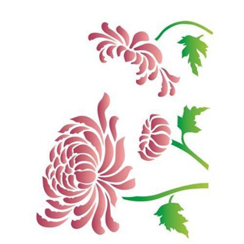 Stencil Opa 20x25 Flor Crisantemo 2182