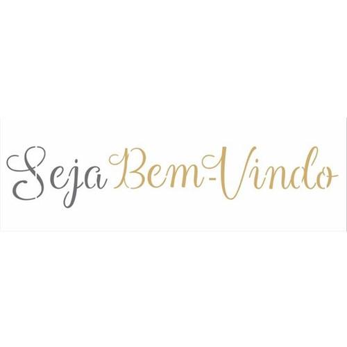 Stencil OPA 10x30 2671 Frase Seja Bem-Vindo