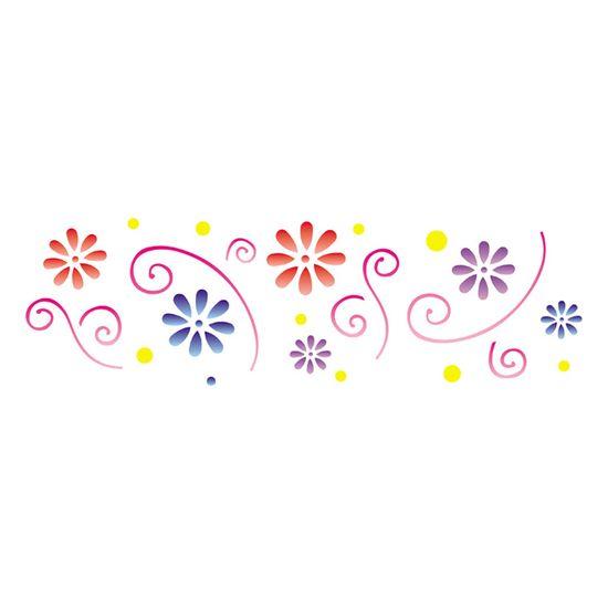 Stencil OPA 10x30 731 Flores Princesas I