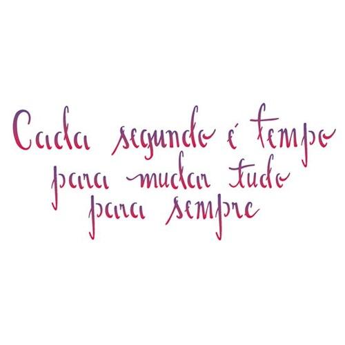 Stencil OPA 10x30 2229 Frase Tempo