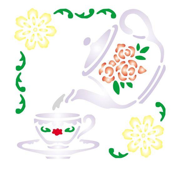Stencil OPA 10x10 082 Cantoneira Chá