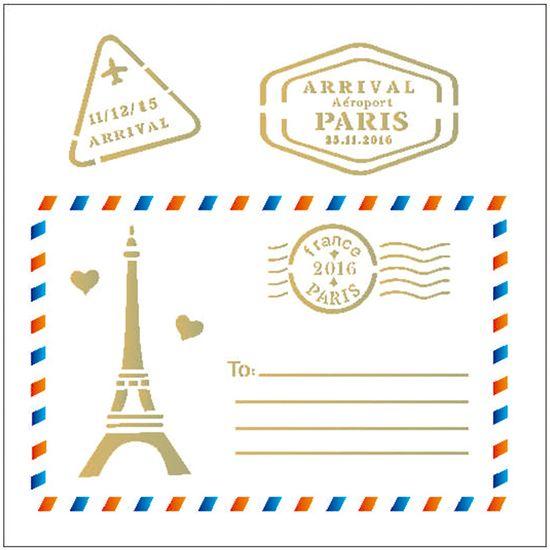 Stencil OPA 14x14 2008 Caixa Postal Paris
