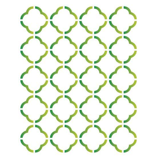 Stencil OPA 15x20 1214 Estamparia Grade Flor