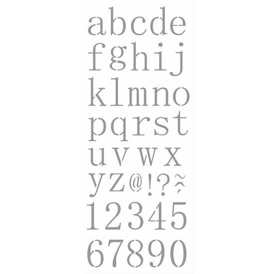 Stencil OPA 17x42 2505 Alfabeto Reto Minúsculo