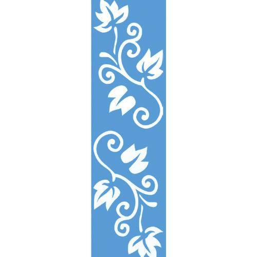 Stencil para Pintura Barra 29,5x8,5 Folhagem Ls-037 - Litocart