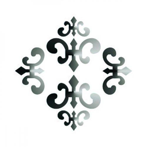 Stencil Simples - 10x10cm - Estampa Medalhão Imperial - OPA500 - Opa Criando Arte