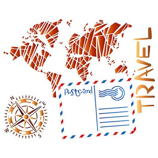 Stencil STR 044 Travel Viagem