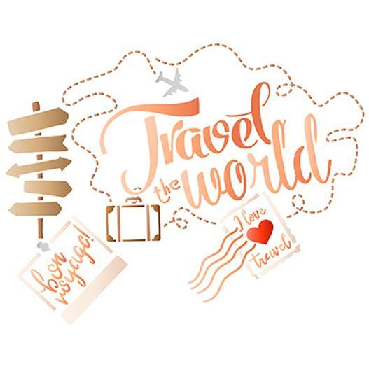 Stencil STR 045 Viaje o Mundo