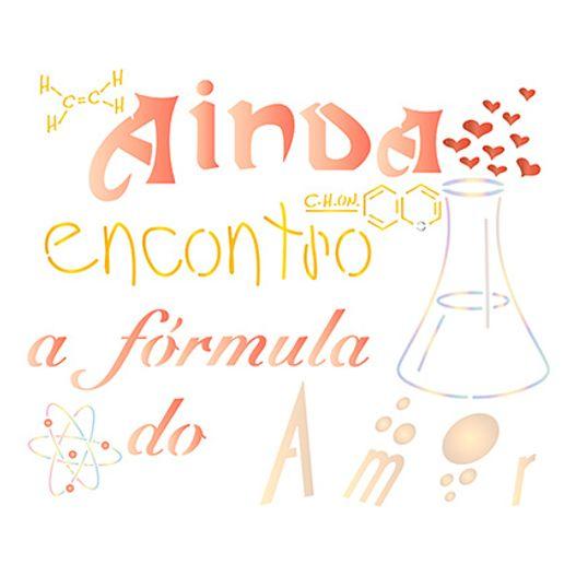 Stencil STR 068 Fórmula do Amor