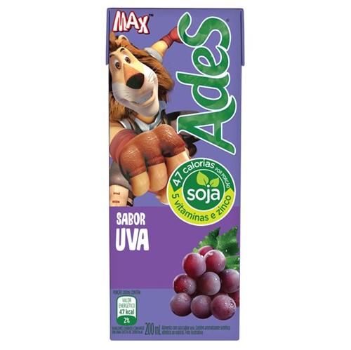 Suco Soja Ades 200ml Uva