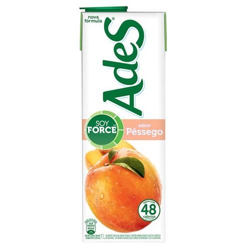 Suco Soja Ades 1l Pessego