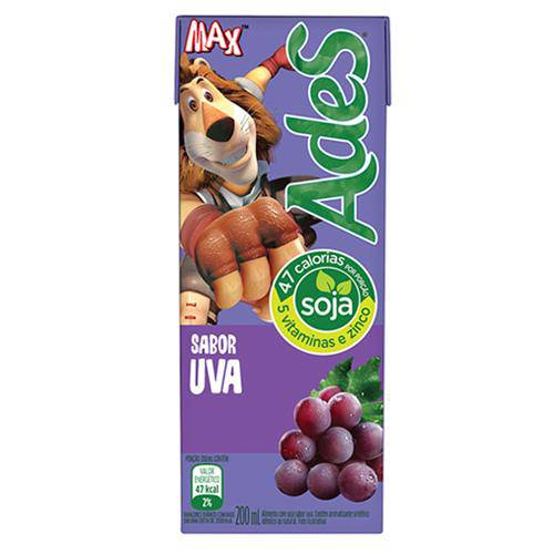 Suco Soja Uva 200ml - Ades