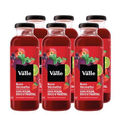 Suco Vermelho Del Valle 300ml (Pack 6 Unidades)
