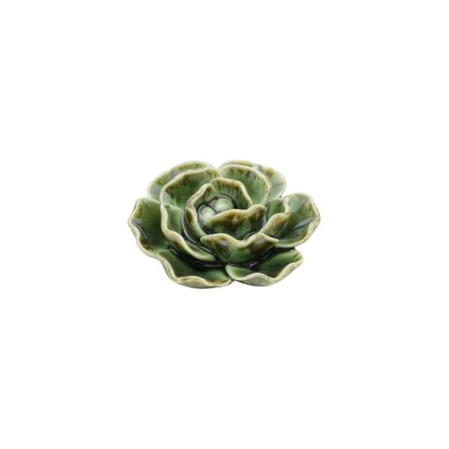 Suculenta de Cerâmica Verde 7,5x7,5x3cm