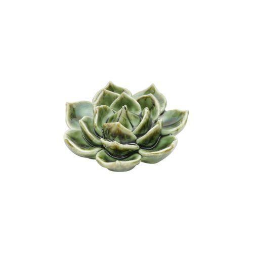 Suculenta de Cerâmica Verde 8x8x4cm