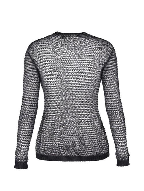 Suéter de Tela Preto Tamanho 40