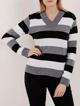 Suéter Feminino Cinza/preto
