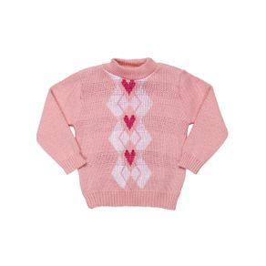 Suéter Infantil para Bebê Menina - Rosa P