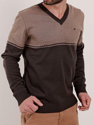 Suéter Masculino Bege/marrom