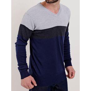 Suéter Masculino Cinza/azul G