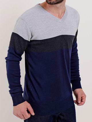 Suéter Masculino Cinza/azul