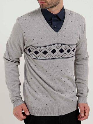 Suéter Masculino Cinza