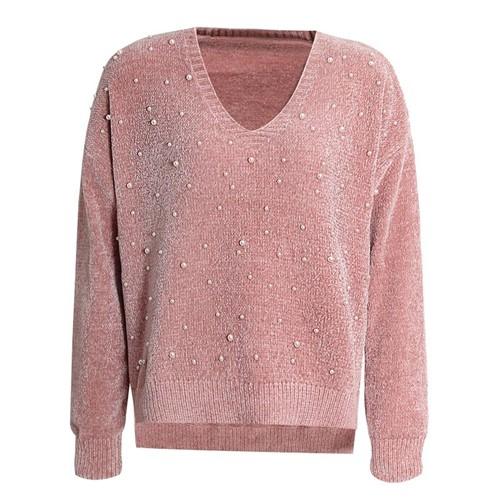 Suéter Tricot Pérolas Rosê
