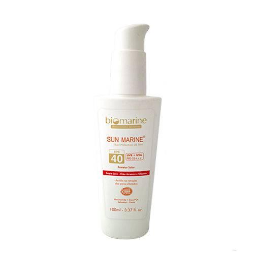 Sun Marine Oil Free Fps40 Biomarine - Protetor Solar
