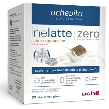 Supemento Vitamínico Ache Inelatte Zero Capuccino com 60 Tabletes Mastigáveis