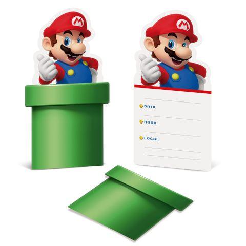 Super Mario Convite C/8 - Cromus