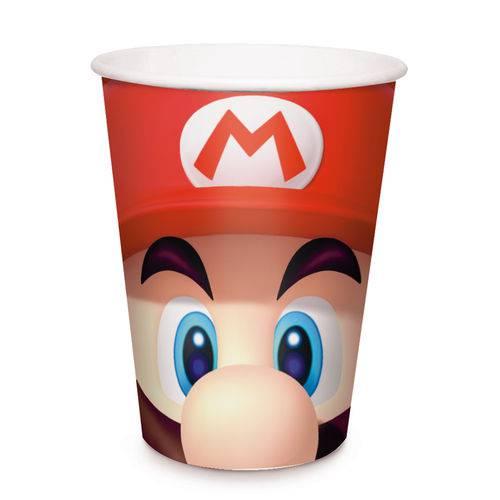 Super Mario Copo Papel C/8 - Cromus