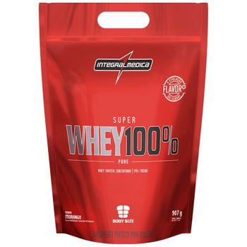 Super Whey 100% Pure - IntegralMedica Super Whey 100% Pure Refil Morango 907g - Integralmedica