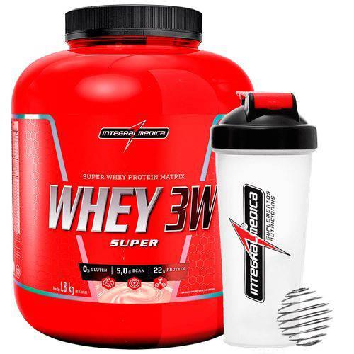 Super Whey 3w 1,8kg com Coqueteleira - Integralmédica - Choc